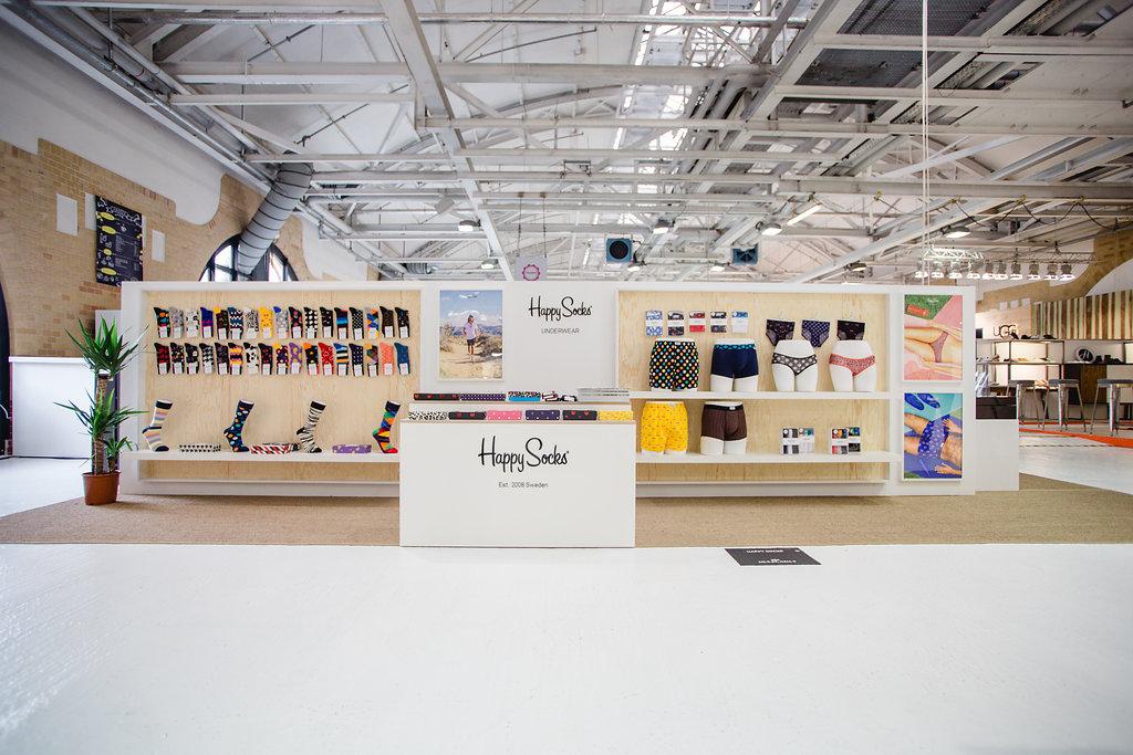 Messestand Happy Socks Premium Fashion Week