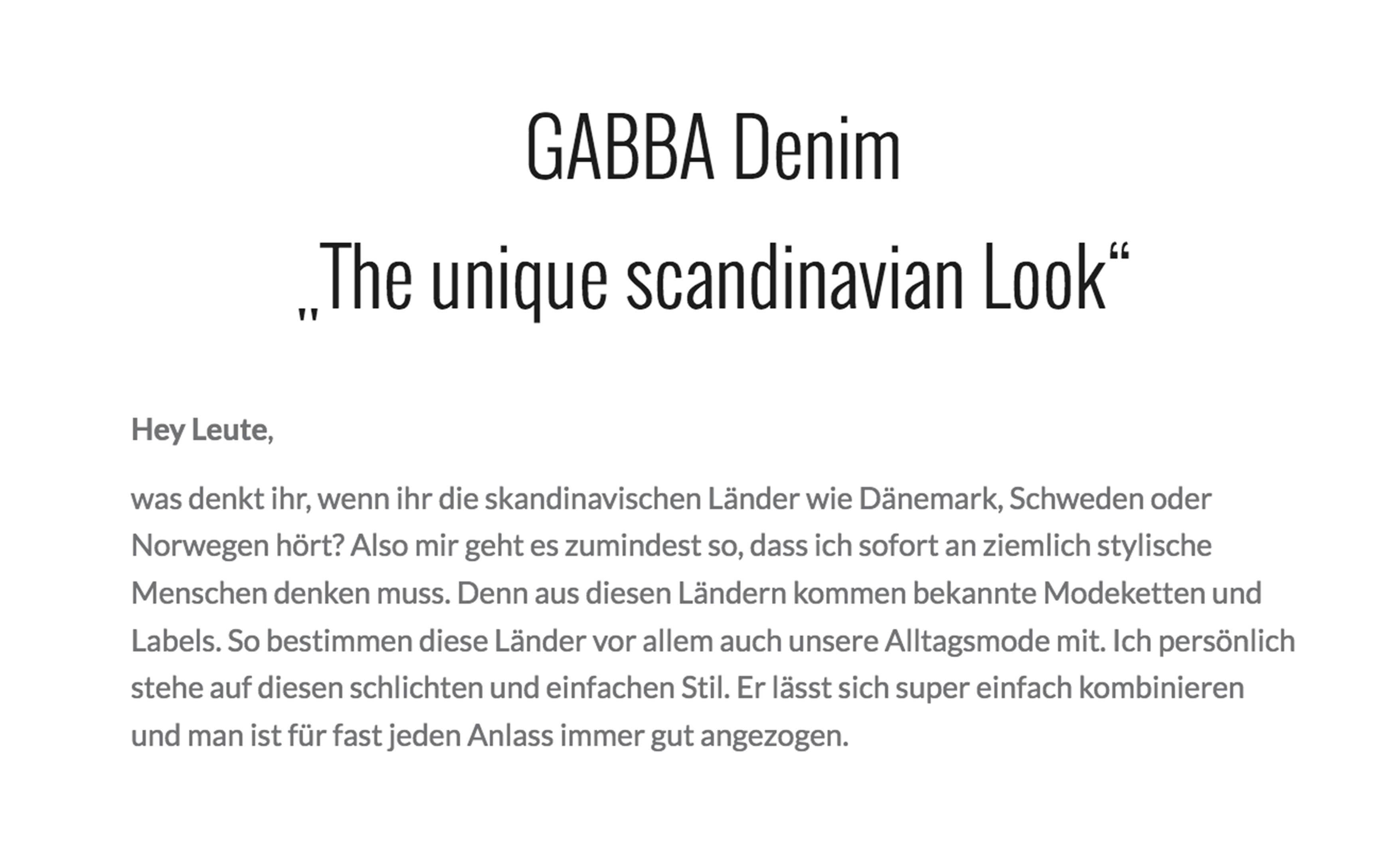 Gabba Denim einzigartiger Style