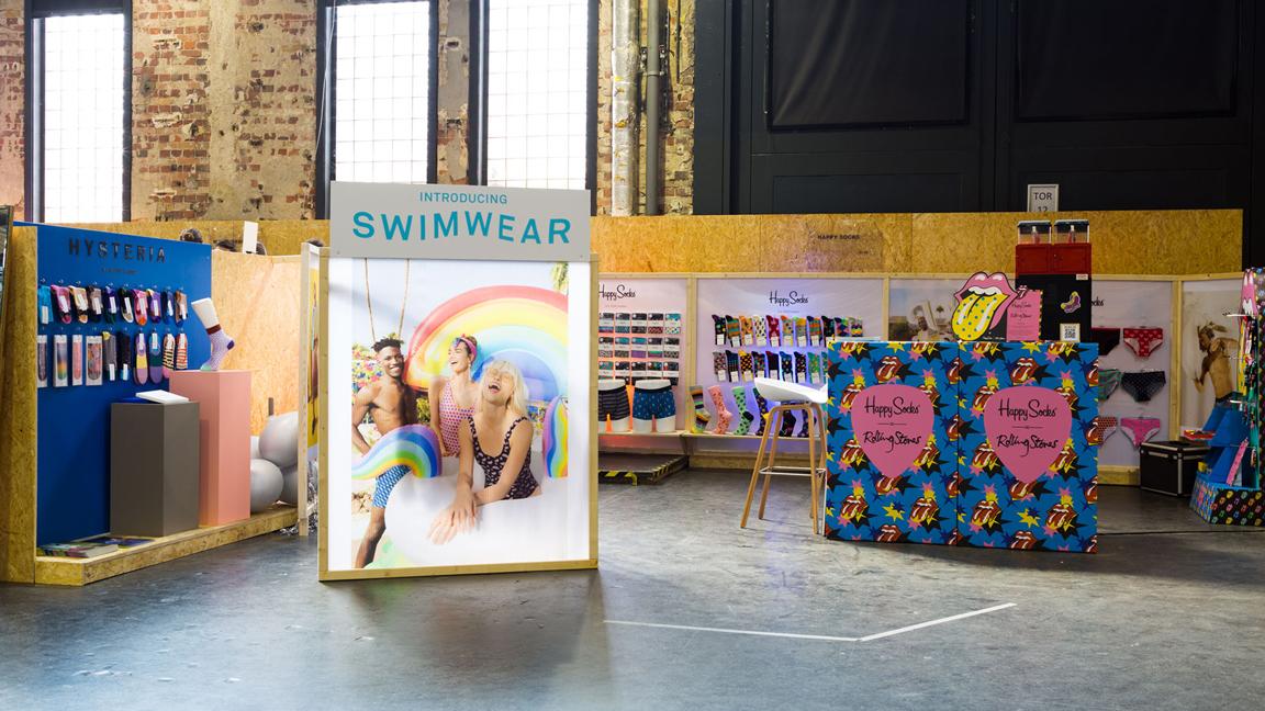 Berlin, Fashion Week, 2018, Badeschiff, Happy Socks, Instinkte, Trade Booth, Seek