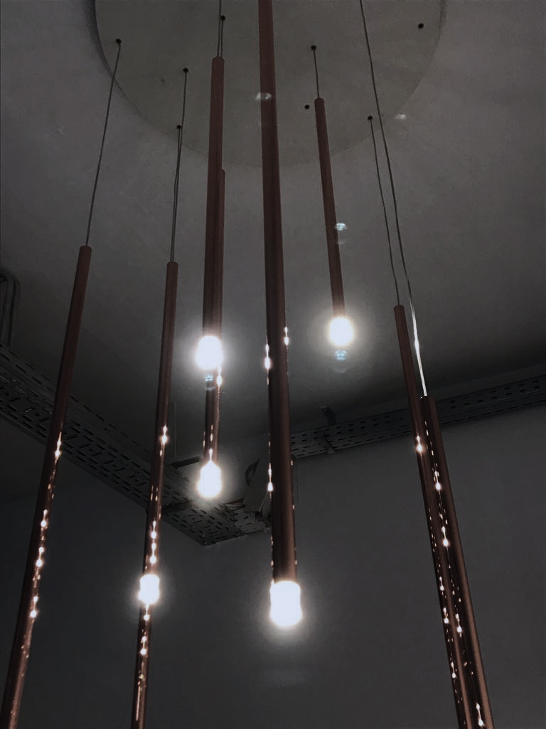 light installation, creativity, creative agency, berlin, instinkte, suspension lamp, entrance, design, interior design, communication agency